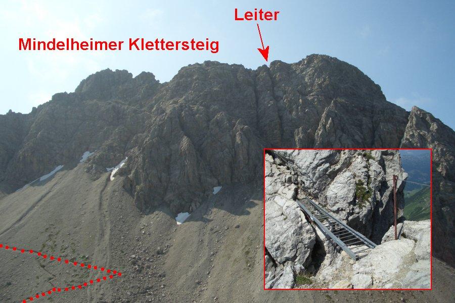 Klettersteig Mindelheimer : Bild mindelheimer klettersteig