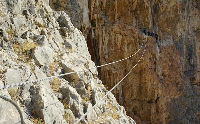 Klettersteig Rucksack : El chorro