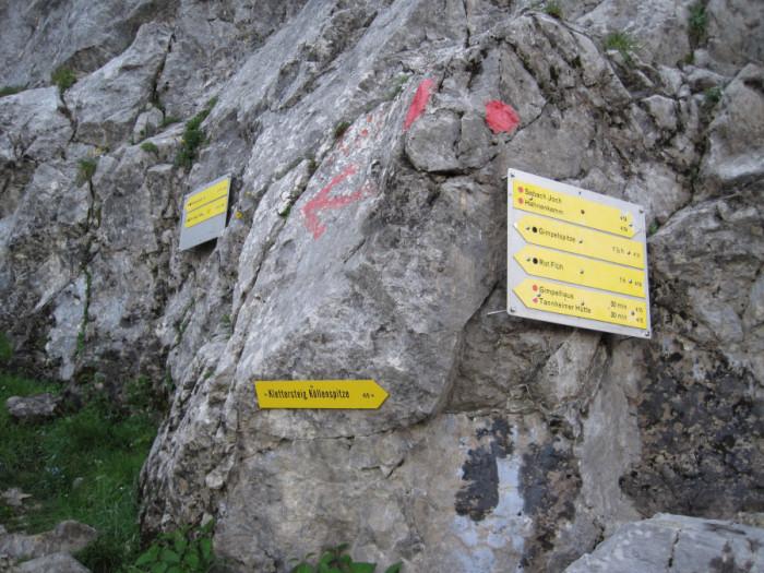 Klettersteig Köllenspitze : Köllenspitze